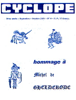 Cyclope: hommage a M de Gelderode