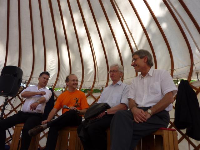 Avec Fouad Laroui, Armel Job et Alain Absire au Salon de Villeneuve-sur-Lot